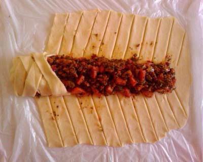 نحوه درست کردن رولت گوشت خمیری , طرز تهیه رولت گوشت