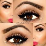 عکس آرایش صورت + چشم قهوه ای,آرایش صورت چشم قهوه ای + عکس,آرایش صورت با پوست سفید و چشم قهوه ای + عکس