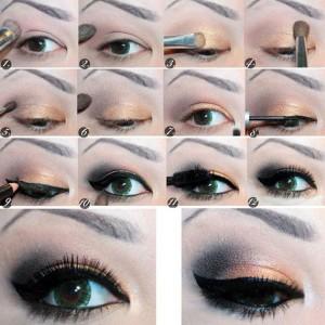 آموزش تصویری آرایش چشم های پف دار,آموزش آرایش چشم های پف دار,آموزش آرایش چشم پف دار,آرایش چشم ریز و پف دار,نحوه ارایش چشم پف دار