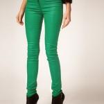عکس شلوار لی سبز,عکس شلوار جین سبز رنگ,عکس شلوار سبز