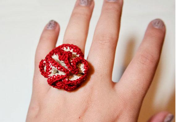 انواع انگشتر بافتنی,انگشتر بافتنی با قلاب,انگشتر بافتنی,عکس انگشتر بافتنی,مدل انگشتر بافتنی