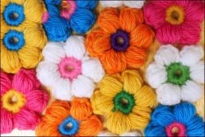 نحوه بافتن گل بافتنی,بافت گل بافتنی,بافت گل قلاب بافی,بافت گل با کاموا