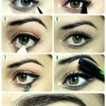 آموزش سایه چشم دخترانه,آموزش آرایش چشم دخترانه,آموزش آرایش چشم تصویری,آموزش سایه چشم ساده
