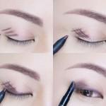 آموزش مدل آرایش چشم ساده,آموزش آرایش چشم ساده,اموزش ارایش چشم ساده و زیبا,اموزش ارایش چشم ساده دخترانه