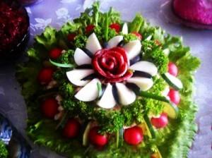 تزیین سبزی خوردن,تزیین سبزی,تزیین بشقاب سبزیجات