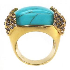 انگشتر طلا زنانه با نگین فیروزه,انگشتر با نگین فیروزه,انگشتر فیروزه,انگشتر فیروزه طلا,انگشتر طلا فیروزه