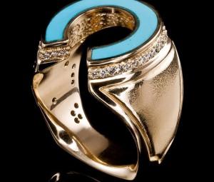 تصاویر انگشتر فیروزه طلا,مدل انگشتر طلا با نگین فیروزه, انگشتر طلا نگین فیروزه
