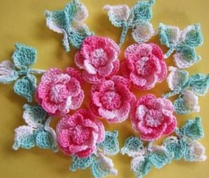 عکس گلهای بافتنی,انواع گلهای بافتنی,گلهای قلاب بافی شده,قلاب بافی گلها