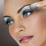 مدل آرایش چشم با سایه آبی ۲۰۱۵,مدل آرایش چشم با سایه آبی,آرایش چشم بادامی, آرایش چشم با سایه