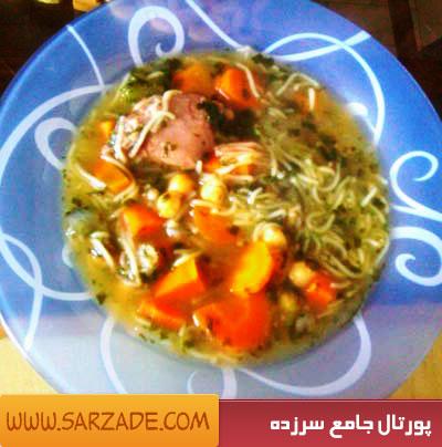 طرز تهیه سوپ ماهیچه - سوپ سرماخوردگی