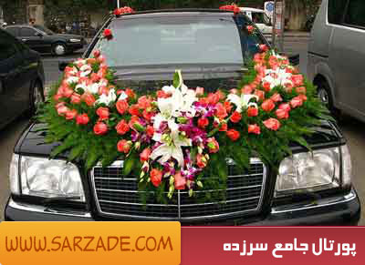 مدل گل زدن ماشین عروس