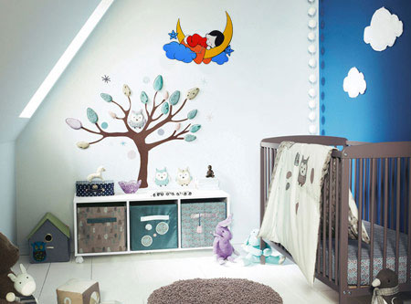 ساعت دیواری طرح رویای کودک