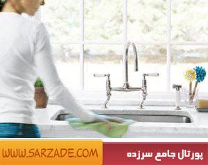روش صحیح تمیز کردن سینک ظرفشویی