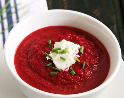 طرز تهیه سوپ چغندر,غذای شب یلدا
