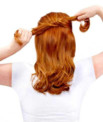 با این روش آسان و راحت برای میهمانی موهای تان را زیبا جمع کنید.