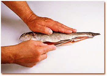 آموزش پاک کردن ماهی قزل آلا