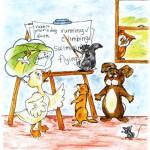 داستان حکمت آموز کوتاه(مباحث درسی در یک مدرسه حیوانات),مباحث درسی در یک مدرسه حیوانات,داستان حکمت آموز کوتاه