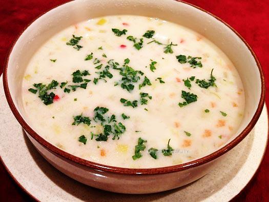 انواع سوپ جو