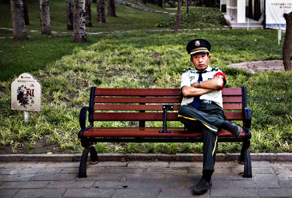 Benches-and-a-security-guard