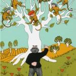 داستان حکمت آموز کوتاه(پدربزرگ کلاه فروش و میمونها),پدربزرگ کلاه فروش و میمونها,داستان حکمت آموز کوتاه, داستان های حکمت آموز