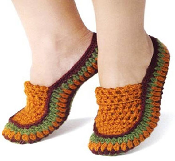 Crocheted-shoes