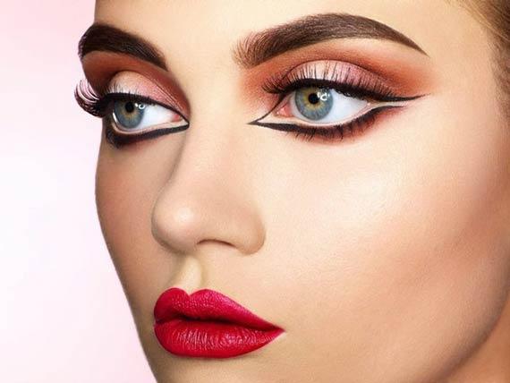خط چشم مناسب چشم درشت,خط چشم مناسب چشم های درشت,خط چشم برای مناسب چشم های درشت