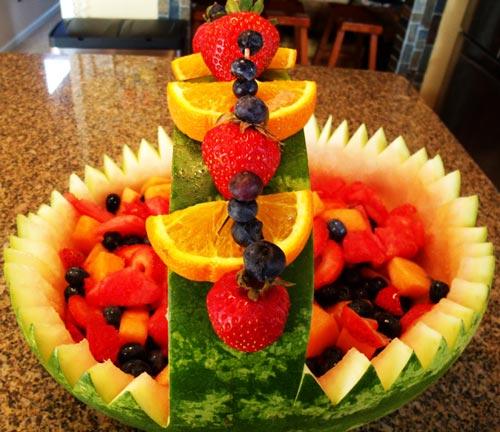هندوانه تزیین شده,عکس هندوانه تزیین شده,هندوانه تزیین شده شب یلدا
