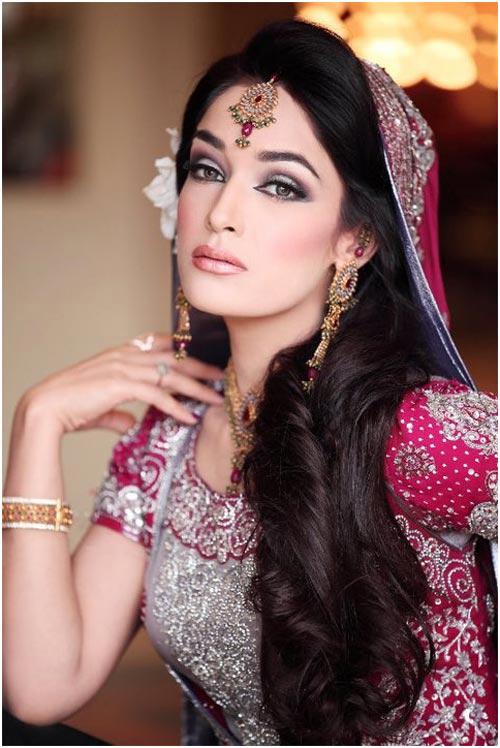 آرایش صورت هندی,مدل آرایش صورت هندی,آرایش صورت عروس هندی