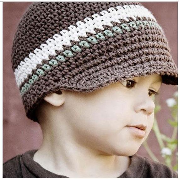 آموزش کلاه بافتنی لبه دار پسرانه,اموزش بافت کلاه بچه گانه,آموزش بافت کلاه با عکس,آموزش بافت کلاه پسرانه