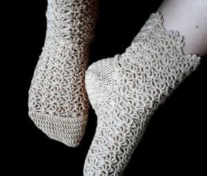 آموزش بافت پاپوش زنانه با قلاب,آموزش بافت پاپوش و جوراب,اموزش انواع جورابهای بافتنی