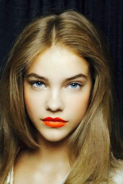 آرایش صورت سال 2014,عکس آرایش صورت 2014,آرایش صورت 2014 با رژ نارنجی