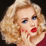 عکس آرایش صورت با موی بلوند,عکس آرایش صورت با موهای بلوند,عکس مدل آرایش صورت با موی بلوند