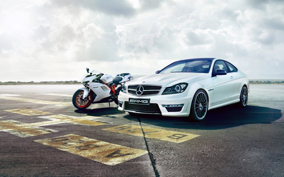 Mercedes-Benz-car-motorbike