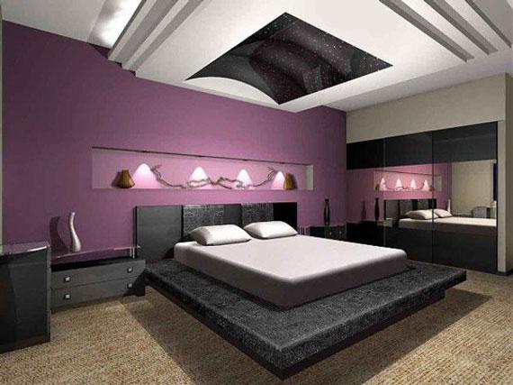 اتاق خواب بنفش,اتاق خواب به رنگ بنفش,اتاق خواب عروس بنفش