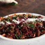 طرز پخت خوراک راگو گوشت و لبو ,خوراک راگوی گوشت و لبو,خوراک راگو
