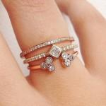 انگشتر دو حلقه ای,مدل انگشتر دو حلقه, مدل انگشتر دوتایی,مدل حلقه دوتایی