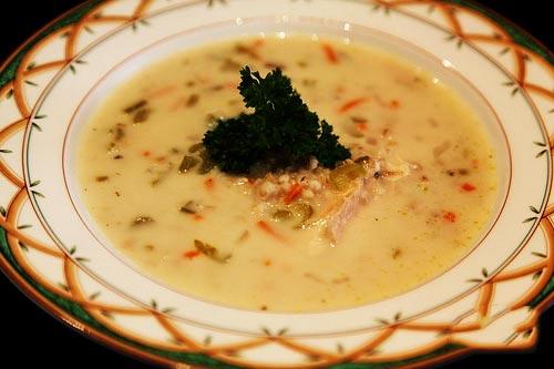 طرز تهیه سوپ جو با آب مرغ,سوپ جو با آب مرغ,آموزش طبخ سوپ جو