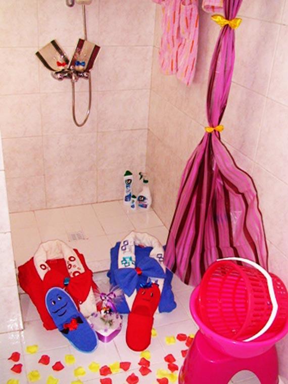 تزیین حموم ودستشویی عروس,تزیین حموم و دستشویی,تزیین حموم دستشویی عروس