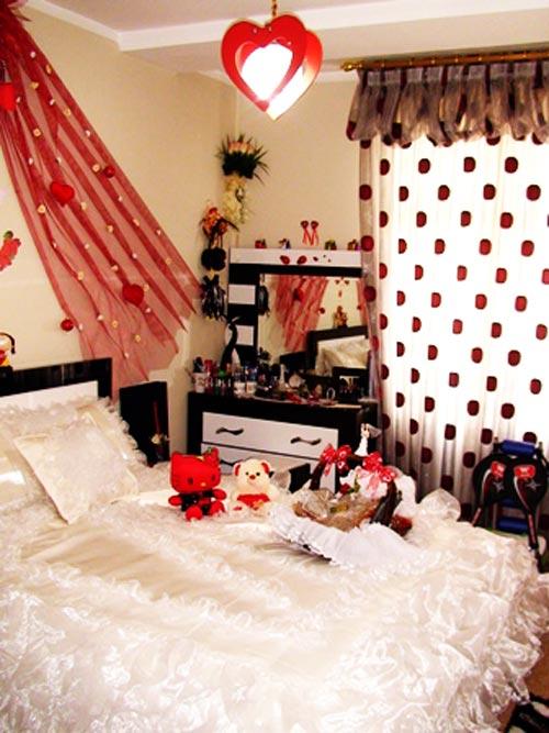 تزیین اتاق خواب عروس,تزیین اتاق خواب عروس ایرانی ,تزیین اتاق خواب عروس و داماد