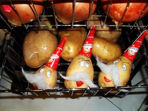 تزیین سیب زمینی و پیاز عروس,عکس تزیین سیب زمینی و پیاز عروس,تزیین سبد سیب زمینی و پیاز عروس