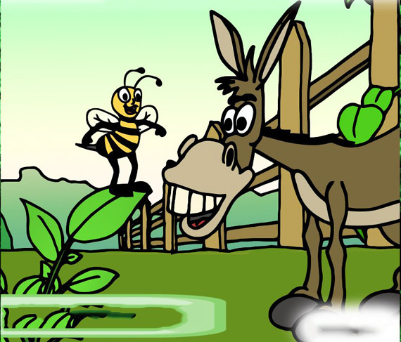 The-story-of-the-donkey-and-the-bees