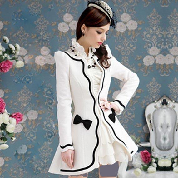 مدل پالتو سفید,مدل پالتو سفید رنگ,مدل پالتو سفید دخترانه
