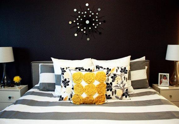 دکوراسیون اتاق خواب با رنگ سیاه و سفید,رنگ اتاق خواب تیره,دکوراسیون اتاق خواب سیاه و سفید
