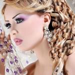 جدیدترین شینیون خلیجی,شینیون خلیجی عروس,عکس شینیون خلیجی,مدل ارایش مو خلیجی,شینیون حلقه ای