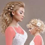 مدل آرایش موی باز عروس,مدل ارایش عروس با موی باز,جدیدترین مدل آرایش موی باز,شینیون موی باز,شینیون موهای بلند