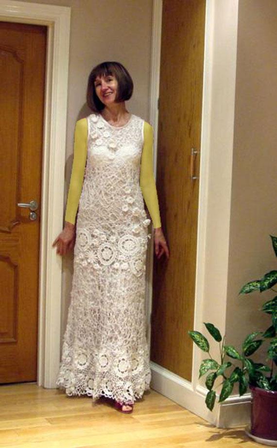 عکس لباس عروس بافتنی,لباس عروس بافتنی,عکس لباس های بافتنی شیک,مدل بافتنی لباس عروس