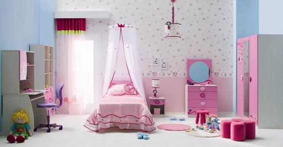 اتاق خواب مدرن دخترانه,اتاق خواب دخترانه صورتی,تغییر دکوراسیون اتاق خواب دخترانه,مدل سرویس اتاق خواب دخترانه