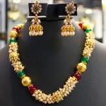 عکس مدل گردنبند طلا با مروارید,عکس گردنبند مروارید با طلا,عکس گردنبند طلا و مروارید