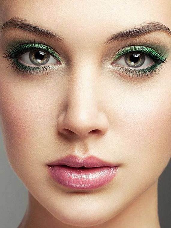 مدل آرایش چشم با سایه سبز,سایه چشم سبز,مدل سایه چشم سبز,آرایش چشم برای چشم سبز