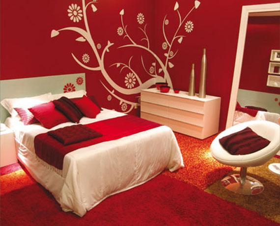 دکوراسیون اتاق خواب قرمز و سفید,اتاق خواب قرمز و سفید,دکوراسیون اتاق خواب سفید قرمز,دکوراسیون اتاق خواب سفید و قرمز
